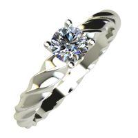 Годежен Пръстен бяло злато с диамант Garland 0,17 ct. 830