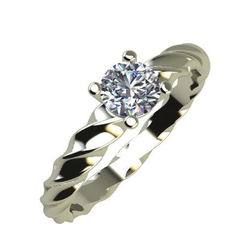 Годежен Пръстен бяло злато с диамант Garland 0,25 ct. 889