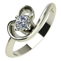Годежен Пръстен бяло злато с диамант Heart 0,12 ct. 587