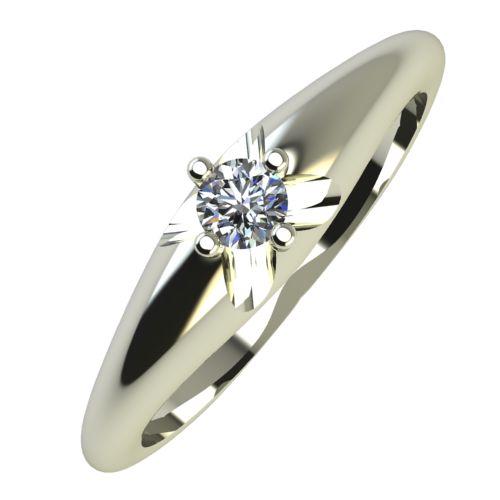 Годежен Пръстен бяло злато с диамант Hues 0,04 ct. 753