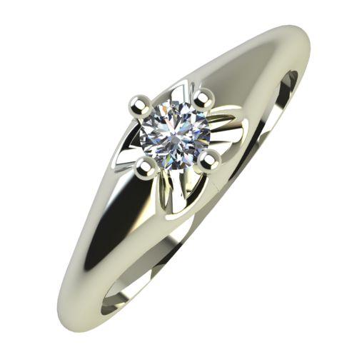 Годежен Пръстен бяло злато с диамант Hues 0,07 ct. 749