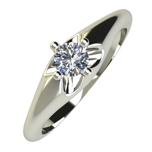 Годежен Пръстен бяло злато с диамант Hues 0,12 ct. 748