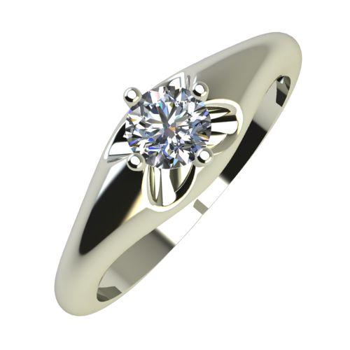 Годежен Пръстен бяло злато с диамант Hues 0,17 ct. 738