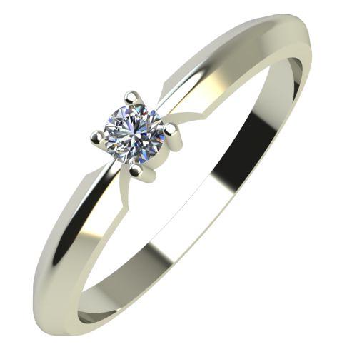 Годежен Пръстен бяло злато с диамант Impulse 0,04 ct. 599