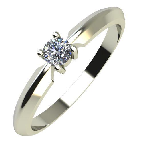Годежен Пръстен бяло злато с диамант Impulse 0,07 ct. 600