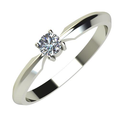 Годежен Пръстен бяло злато с диамант Impulse 0,12 ct. 603
