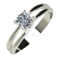 Годежен Пръстен бяло злато с диамант Main 0,12 ct. 559