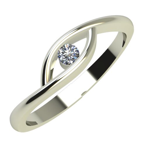 Годежен Пръстен бяло злато с диамант Mini 0,04 ct. 702