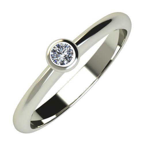 Годежен Пръстен бяло злато с диамант Moon 0,04 ct. 694