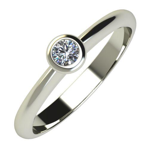 Годежен Пръстен бяло злато с диамант Moon 0,07 ct. 695