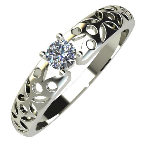 Годежен Пръстен бяло злато с диамант Nets 0,07 ct. 681