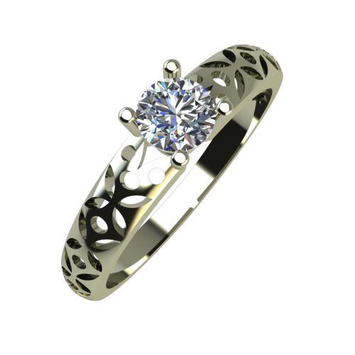 Годежен Пръстен бяло злато с диамант Nets 0,25 ct. 885