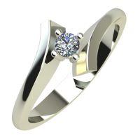 Годежен Пръстен бяло злато с диамант Open 0,07 ct. 786