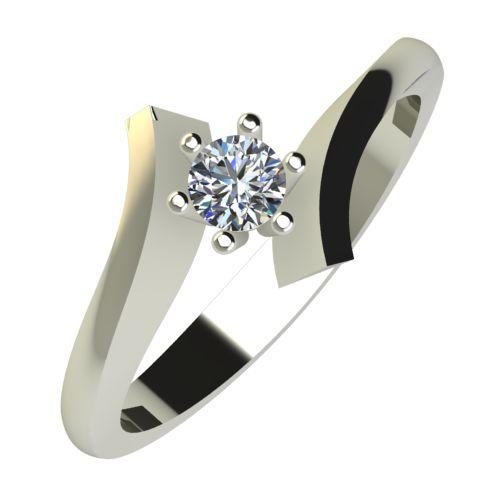 Годежен Пръстен бяло злато с диамант Open 0,12 ct. 784
