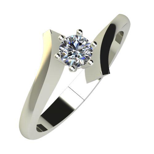 Годежен Пръстен бяло злато с диамант Open 0,17 ct. 827