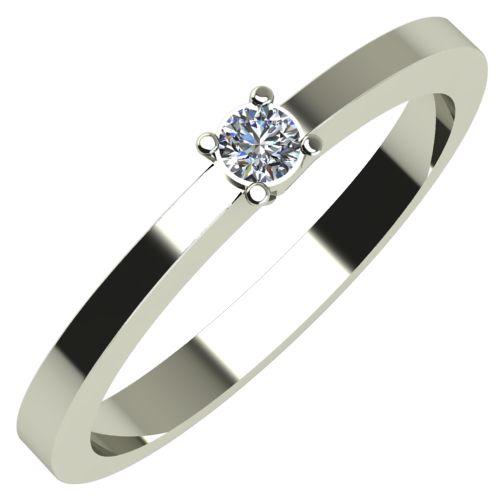 Годежен Пръстен бяло злато с диамант Piece 0,04 ct. 253