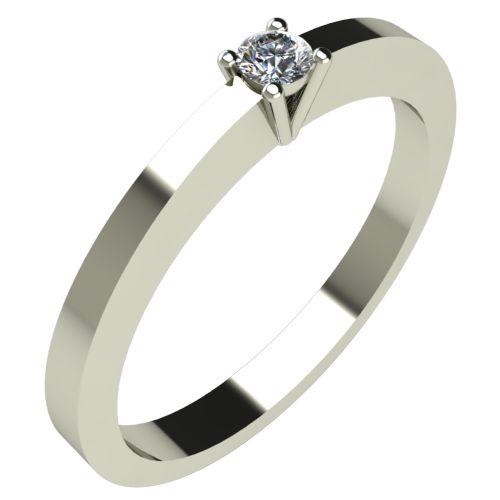 Годежен Пръстен бяло злато с диамант Piece 0,04 ct. 298