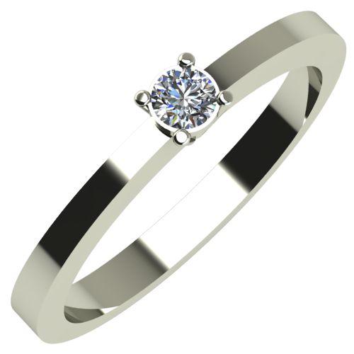 Годежен Пръстен бяло злато с диамант Piece 0,12 ct. 652
