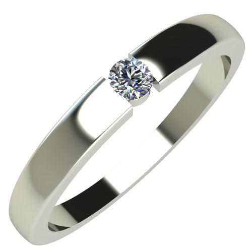 Годежен Пръстен бяло злато с диамант Safe 0,04 ct. 239
