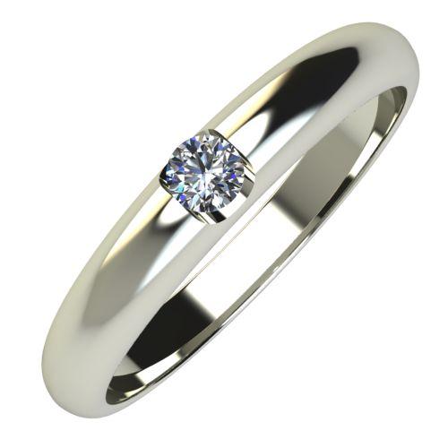 Годежен Пръстен бяло злато с диамант Safe 0,07 ct. 657
