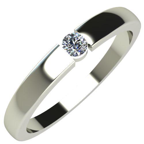 Годежен Пръстен бяло злато с диамант Safe 0,12 ct. 690