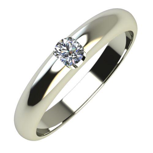 Годежен Пръстен бяло злато с диамант Safe 0,12 ct. 718