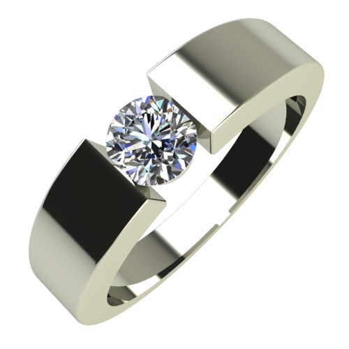 Годежен Пръстен бяло злато с диамант Safe 0,25 ct. 585