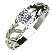 Годежен Пръстен бяло злато с диамант Sets 0,12 ct. 578