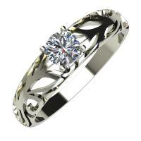 Годежен Пръстен бяло злато с диамант Sets 0,25 ct. 693
