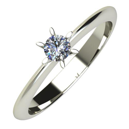 Годежен Пръстен бяло злато с диамант Star 0,12 ct. 626