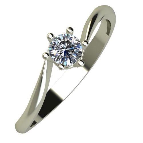 Годежен Пръстен бяло злато с диамант Starlet 0,17 ct. 936