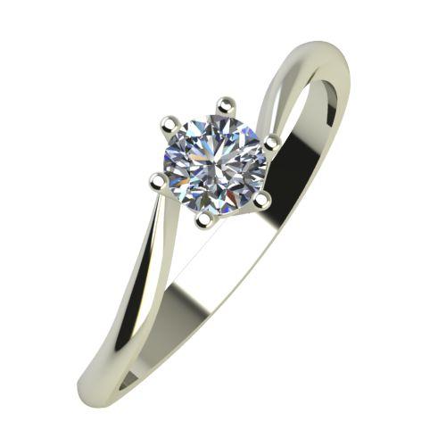 Годежен Пръстен бяло злато с диамант Starlet 0,25 ct. 938