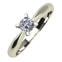 Годежен Пръстен бяло злато с диамант Thin 0,12 ct. 727