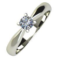 Годежен Пръстен бяло злато с диамант Thin 0,17 ct. 730