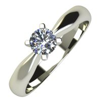 Годежен Пръстен бяло злато с диамант Thin 0,25 ct. 729