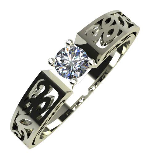 Годежен Пръстен бяло злато с диамант Token 0,12 ct. 680