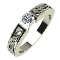 Годежен Пръстен бяло злато с диамант Token 0,12 ct. 720