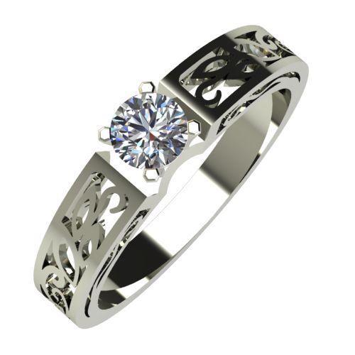 Годежен Пръстен бяло злато с диамант Token 0,17 ct. 616
