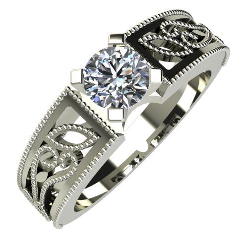 Годежен Пръстен бяло злато с диамант Token 0,25 ct. 716