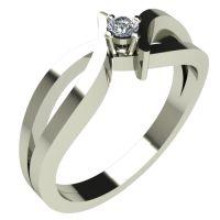 Годежен Пръстен бяло злато с диамант Twine 0,04 ct. 304
