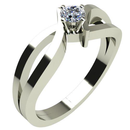 Годежен Пръстен бяло злато с диамант Twine 0,12 ct. 306