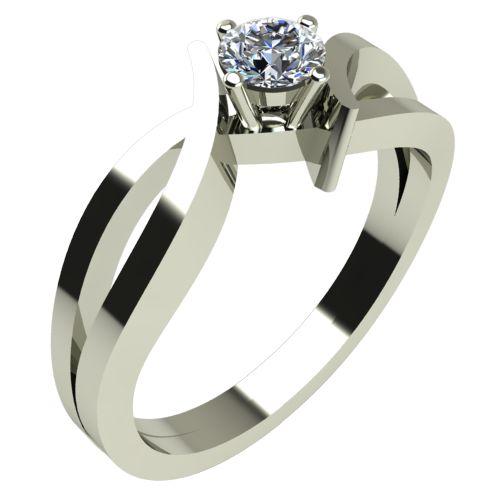 Годежен Пръстен бяло злато с диамант Twine 0,17 ct. 307