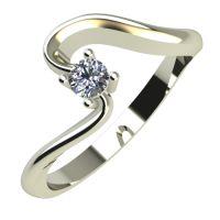 Годежен Пръстен бяло злато с диамант Twinkle 0,07 ct. 674