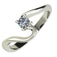 Годежен Пръстен бяло злато с диамант Twinkle 0,12 ct. 659