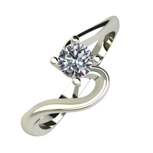 Годежен Пръстен бяло злато с диамант Twinkle 0,17 ct. 925
