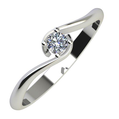 Годежен Пръстен бяло злато с диамант Unity 0,07 ct. 805