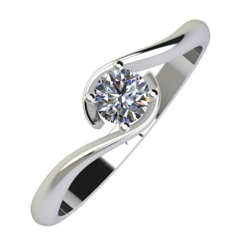 Годежен Пръстен бяло злато с диамант Unity 0,17 ct. 804
