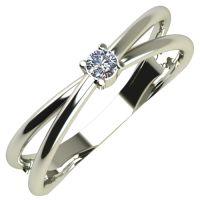 Годежен Пръстен бяло злато с диамант Wings 0,04 ct. 262