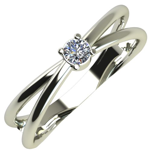 Годежен Пръстен бяло злато с диамант Wings 0,07 ct. 263