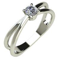 Годежен Пръстен бяло злато с диамант Wings 0,12 ct. 294
